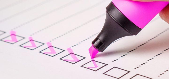 como montar um checklist